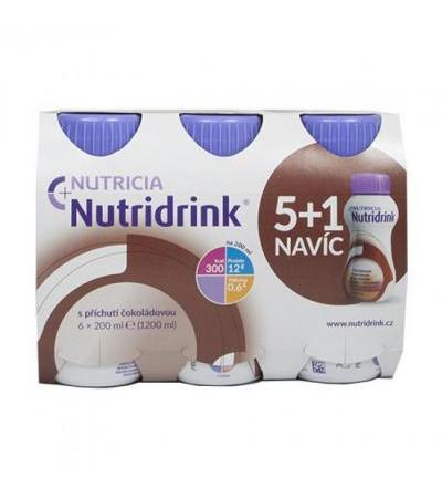 NUTRIDRINK package 5+1 FOR FREE with chocolate flavor 6x 200ml